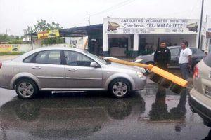 Estragos de lluvia y viento 'huracanados' en Mérida