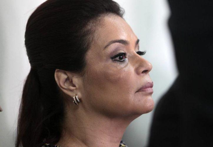 Imagen de archivo de la ex vicepresidenta de Guatelama, Roxana Baldetti, quien fue detenida por su presunta vinculación con un caso de corrupción. (Archivo/EFE)