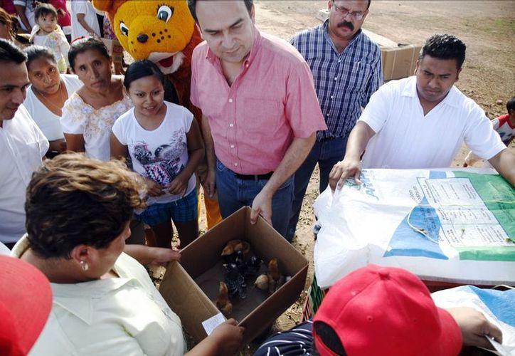 Torres Arcila entregó apoyos a 585 familias del interior del Estado. (SIPSE)