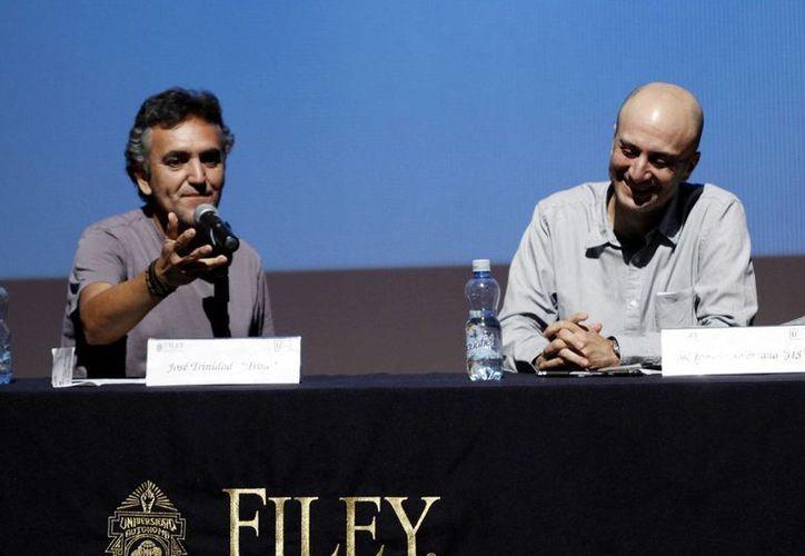 José Trinidad Camacho Orozco (Trino) y José Ignacio Solórzano (Jis) presentan su más reciente trabajo. (Christian Ayala/SIPSE)