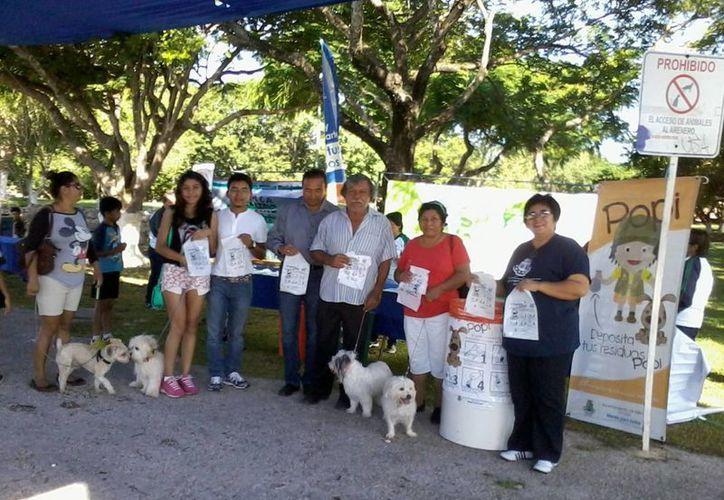 El programa Popi del Ayuntamiento de Mérida pretende crear conciencia ambiental entre dueños de mascotas, en particular perros. (Foto: cortesía)