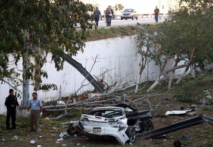 En esta tragedia hubo dos muertos y dos lesionados graves. (Jorge Pallota/SIPSE)