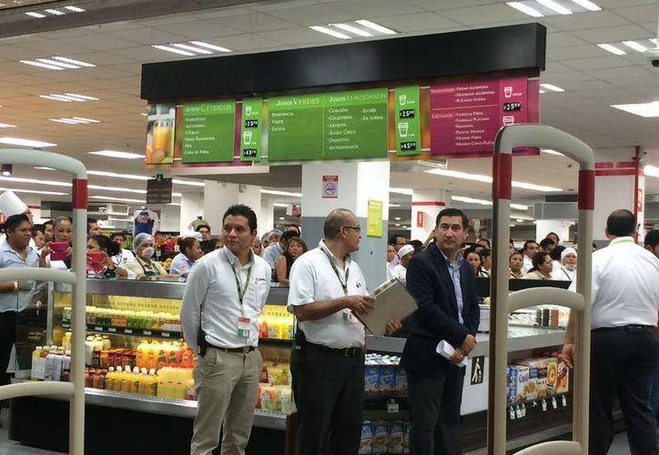 En la tienda se instaló una zona regional, además de que ya se tiene acuerdos con más de 50 productores de la zona maya. (Redacción/SIPSE)