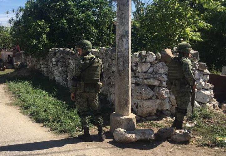 La recuperación de los vestigios se realizó en un predio en Oxcum, comisaría de Umán. (Milenio Novedades)