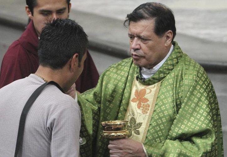 El cardenal Norberto Rivera designó a los responsables de gestionar las actividades de Su Santidad durante su estancia en la Ciudad de México. (Archivo/Notimex)