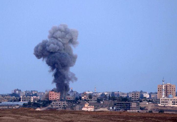 Bombardeo israelí en el norte de la Franja de Gaza. (Agencias)