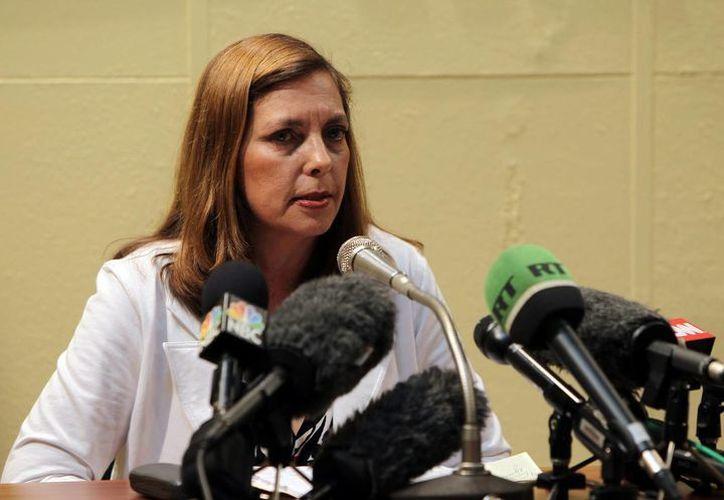 Josefina Vidal, directora general de EU del Ministerio de Relaciones Exteriores de la isla durante una rueda de prensa. (Archivo/EFE)