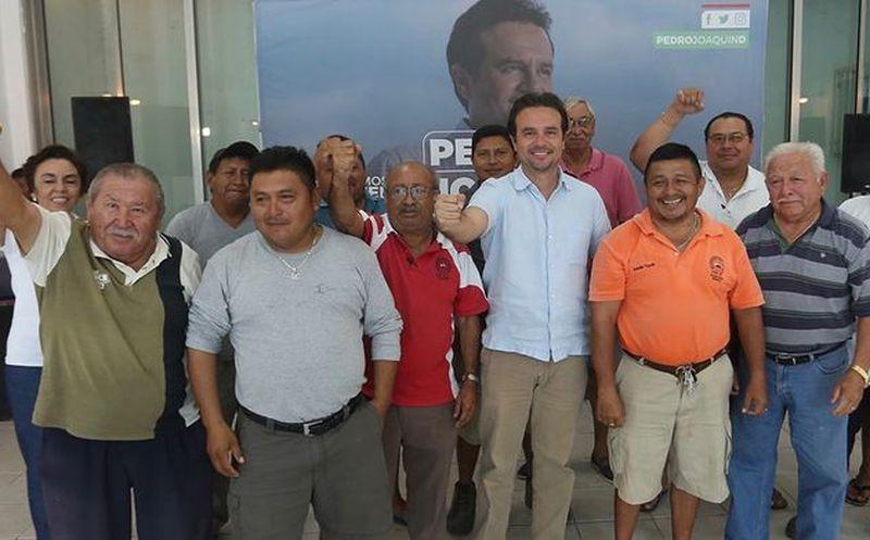 """El sindicato de volqueteros """"Vicente Guerrero"""", tuvo una reunión con Pedro Joaquín. (Redacción/SIPSE)"""