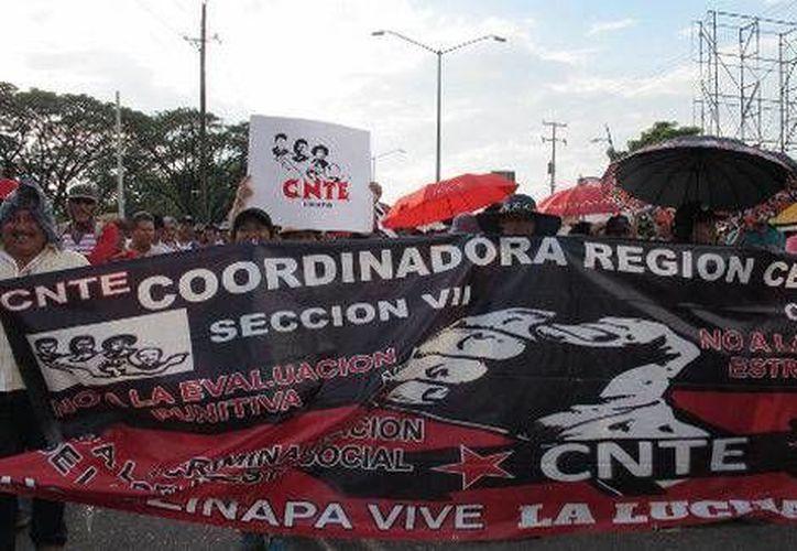 Profesores disidentes aseguran que sostendrán la huelga que estallaron el pasado 15 de mayo en Chiapas.  (Milenio Digital)