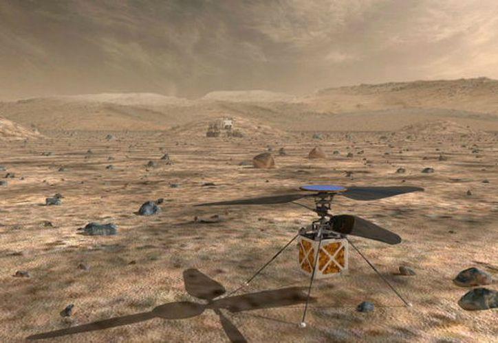 Imagen del helicóptero que pretende enviar la Nasa a Marte en 2020. (Foto: Nasa)