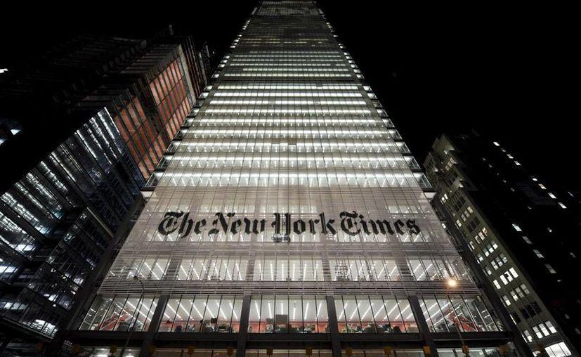 Vista del edificio sede del New York Times en Nueva York. (EFE/Archivo)