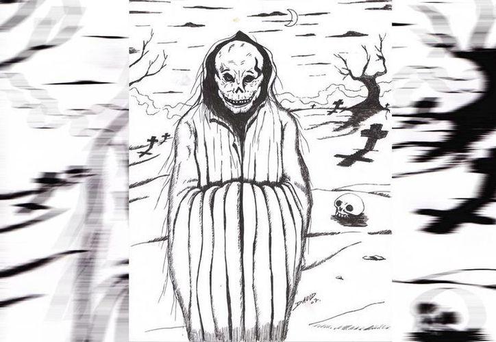 """Retrato hablado de una de las llamadas """"huesudas"""". (Jorge Moreno/SIPSE)"""