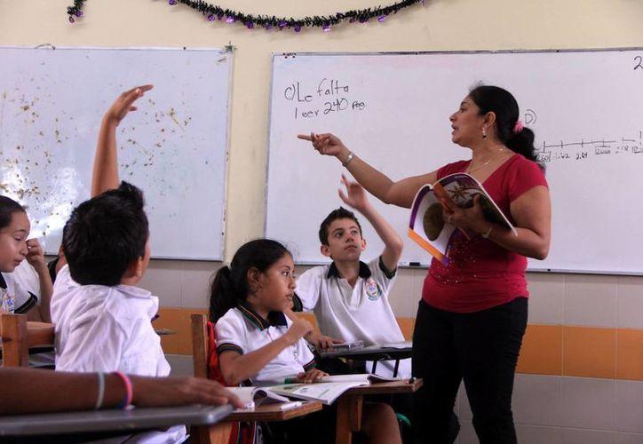 Algunos maestros sólo cobran 300 pesos a la quincena por sus deudas. (Milenio Novedades)