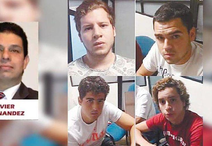 Padres de Los Porkys presentaron una denuncia contra Javier Fernández, papá de Daphne, y Ricardo Fernández, dueño del Café La Parroquia, por los delitos de privación ilegal de la libertad, extorsión y amenazas. (noticiasmvs.com)