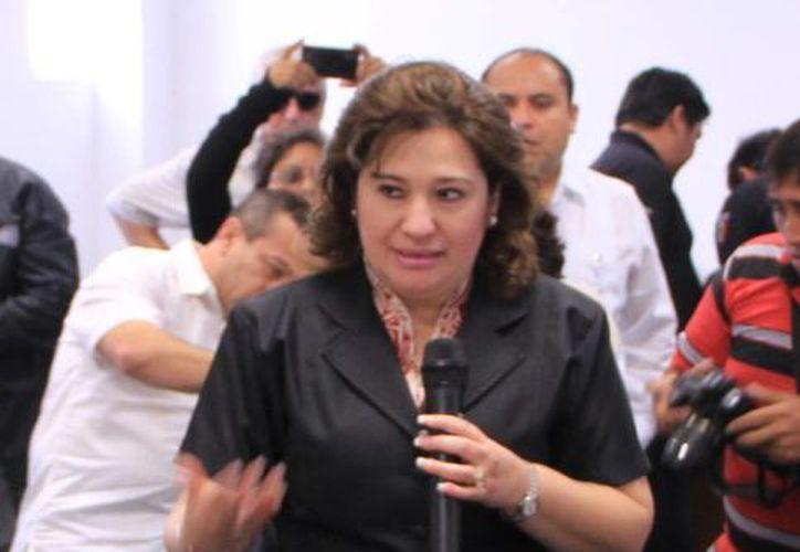 La fiscal del estado Celia Rivas  Rodríguez. (SIPSE)
