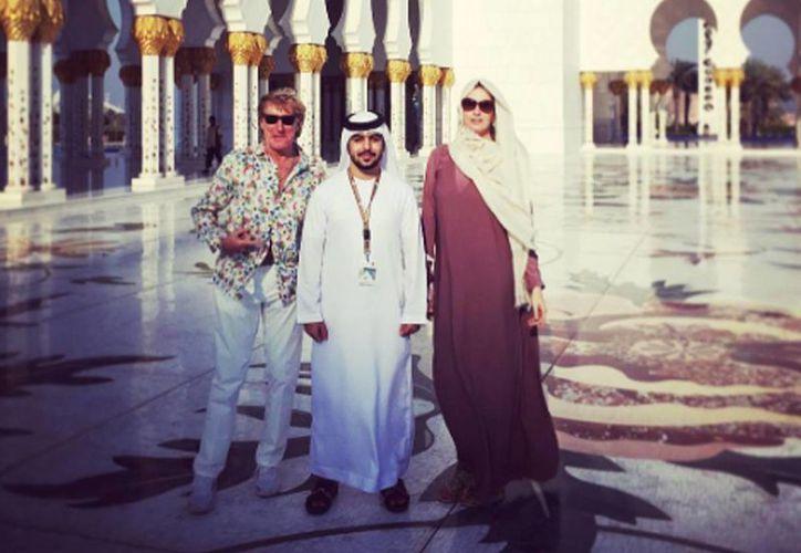 Rod Stewart se encuentra de vacaciones de Abu Dhabi. Publica un video en redes sociales de una escena de ejecución. (Instagram: Rod Stewart)