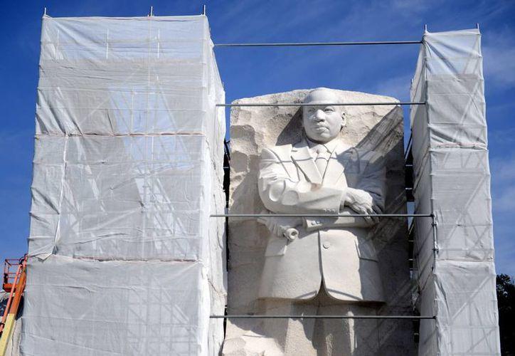 Fotografía tomada el pasado 2 de agosto en la que se registró el monumento en memoria del activista pro derechos humanos Martin Luther King, en el National Mall de Washington DC. (EFE)