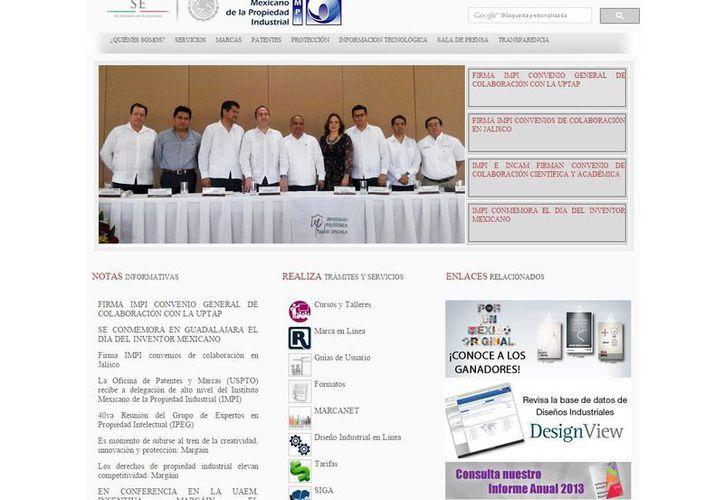 El registro de tu marca o producto se puede realizar vía interner. (impi.gob.mx)