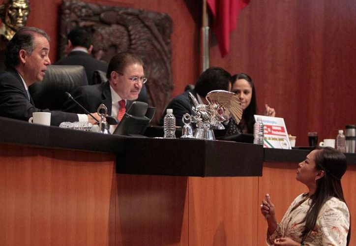 Acaloradas discusiones hubo ayer en el Senado de la República. Se aprobaron en lo general varios preceptos de las leyes secundarias en materia energética. (Imagen de contexto/NTX)