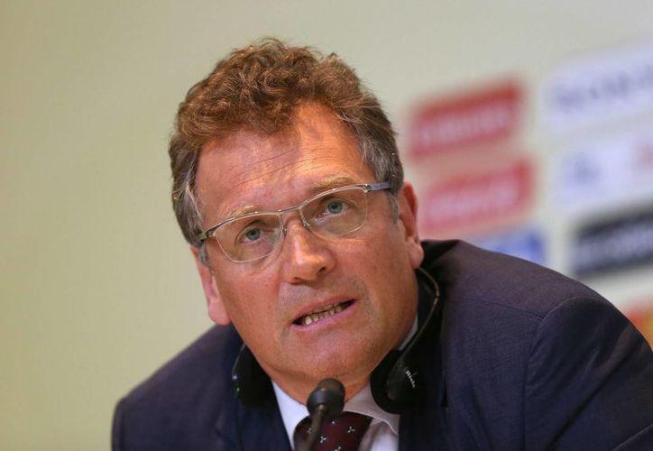 Valcke: la principal preocupación es el corto período para probar los estadios. (EFE/Archivo)