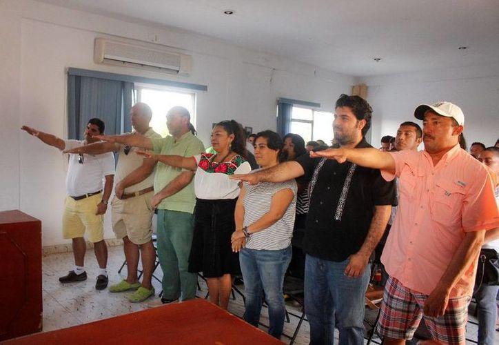 Tomaron protesta los integrantes del comité de Pueblos Mágicos. (Raúl Balam/SIPSE)