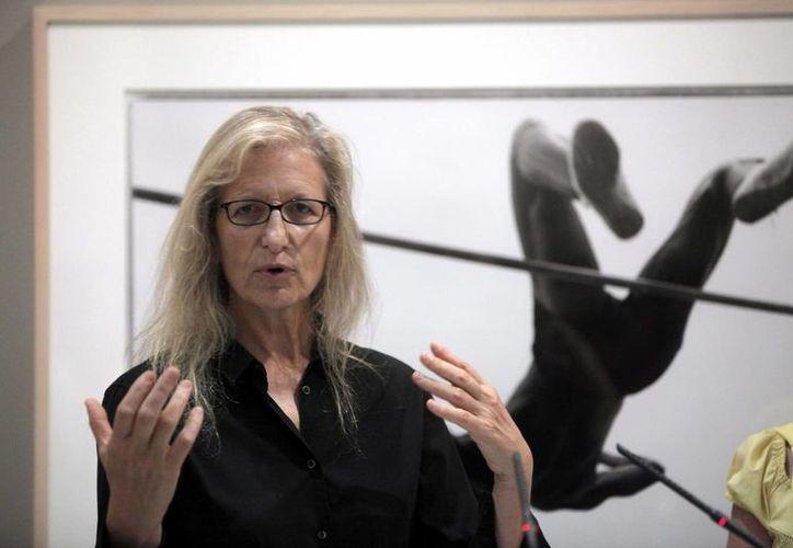 """Leibovitz en la presentación de su exposición """"A Photographer's Life"""", en Londres (EFE/Archivo)"""