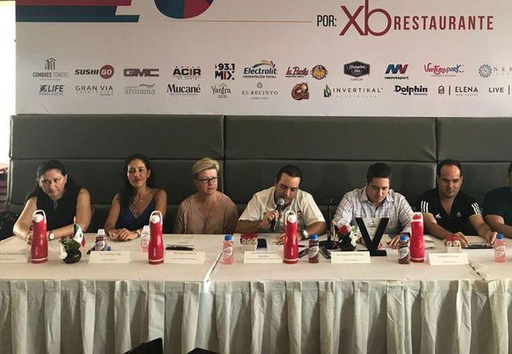 Fue anunciada la justa atlética en conferencia de prensa. (Ángel Villegas/SIPSE)