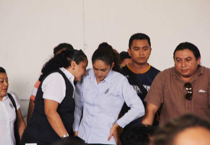 La lideresa de la Autamuady, Sofía del Socorro Ayil Sierra, afirmó que aunque la huelga termina no están conformes con el ofrecimiento del Rector. (Archivo/SIPSE)