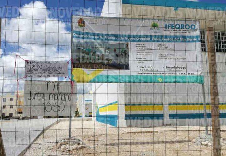 Algunas escuelas no han sido entregadas por parte del Ifeqroo. (Pedro Olive/SIPSE)