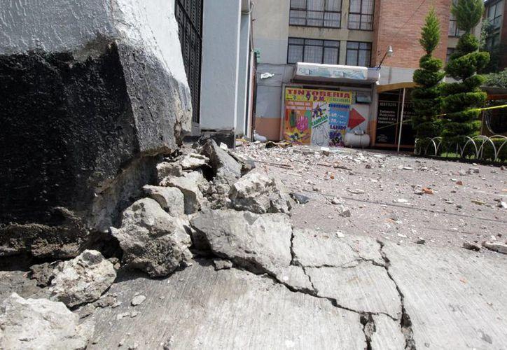 Tanto el sismo registrado ayer, como las réplicas y el terremoto de este sábado no causaron pérdida de vidas. (Notimex)