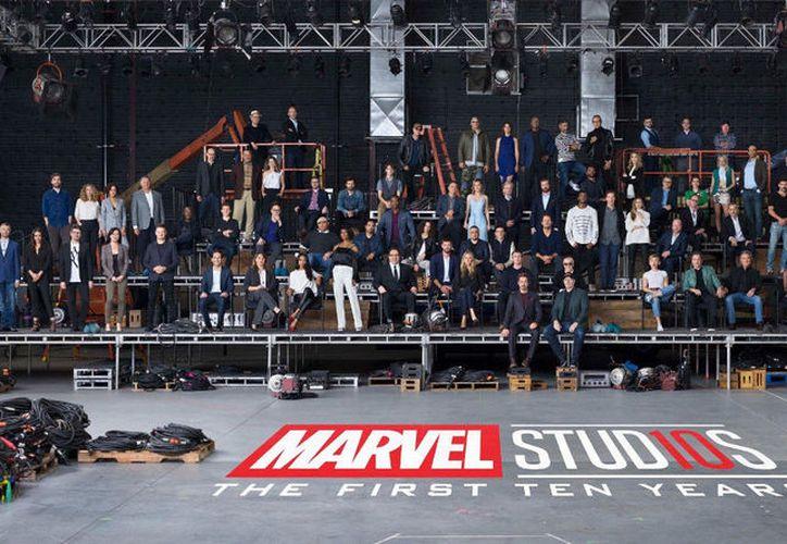 Marvel reunió a más de 80 actores y realizadores para festejar 10 años de su universo cinematográfico. (Foto: Marvel)