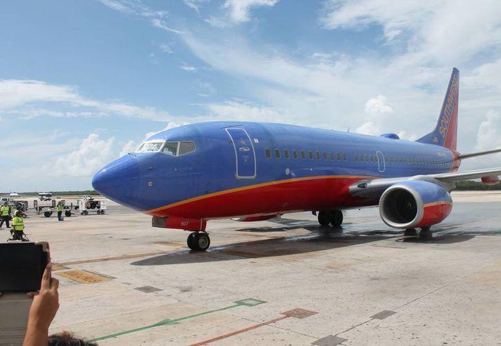 La aerolínea Southwest realizó su viaje inaugural a Cancún el 12 de agosto. (Redacción/SIPSE)