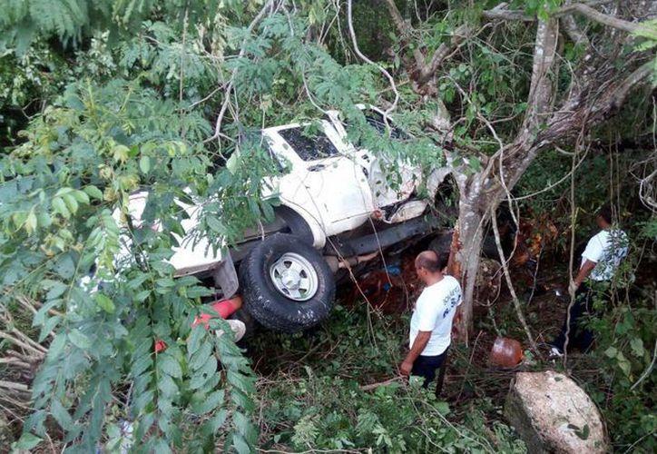 El vehículo terminó dentro del monte desbaratado. Un hombre de 63 años perdió la vida en el lugar.  (Milenio Novedades)