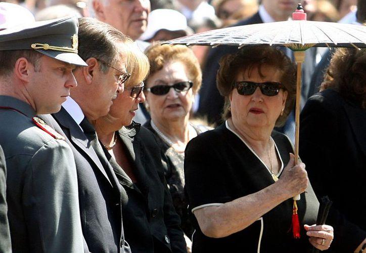 Lucía Hiriart, durante el funeral de su marido, el ex dictador Augusto Pinochet Ugarte, en Santiago de Chile. (EFE/Archivo