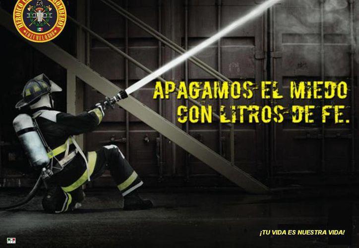 Imagen promocionada por los bomberos en las redes sociales. (Redacción/SIPSE)