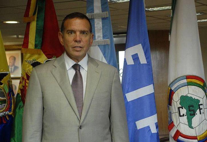 El comité de la Conmebol anunció fecha de inicio de las eliminatorias rumbo a Rusia 2018. En la imagen, Juan Ángel Napout, dirigente de la organización.(conmebol.com)