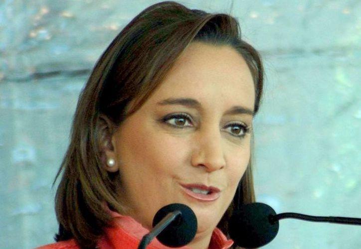 Claudia Ruiz Massieu. (Notimex)