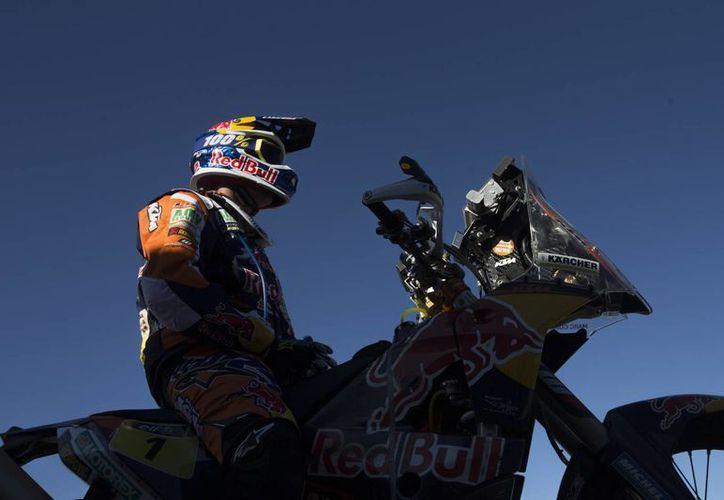 Marc Coma, cuatro veces ganador del Dakar, ya está a dos minutos del líder de la nueva edición de la competencia. (Foto: AP)