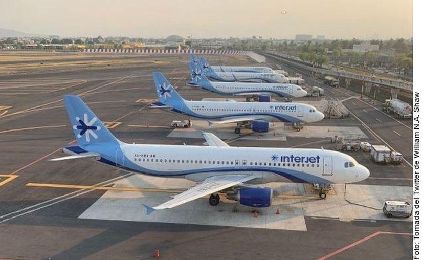 Interjet fue la aerolínea más afectada en vuelos nacionales por la pandemia del coronavirus (Covid-19), con una caída de 97.2 por ciento en el total de pasajeros movilizados. (Foto: Reforma).