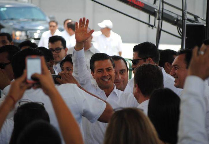 El presidente de la República, Enrique Peña Nieto, confirmó el cierre de las garitas. (Israel Leal/SIPSE)