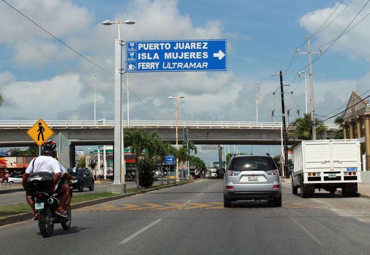 Las obras serían como el puente que se ubica en la López Portillo con Bonampak. (Luis Soto/SIPSE)
