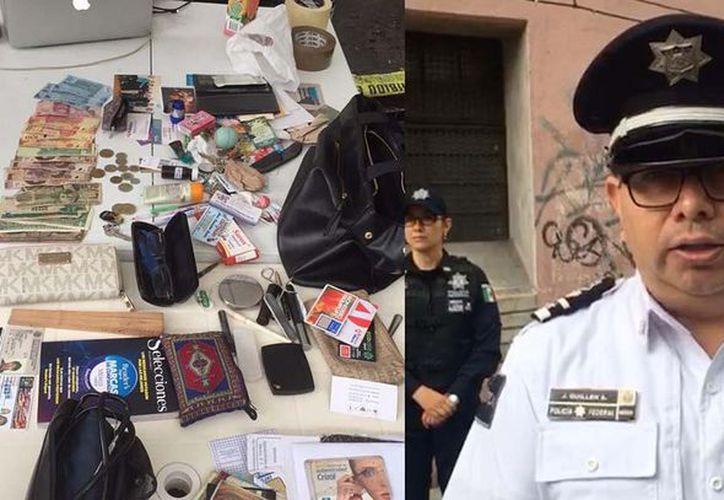 La Policía Federal entregó los objetos de valor a la Procuraduría General de Justicia de la Ciudad de México. (Foto: Quadratín)