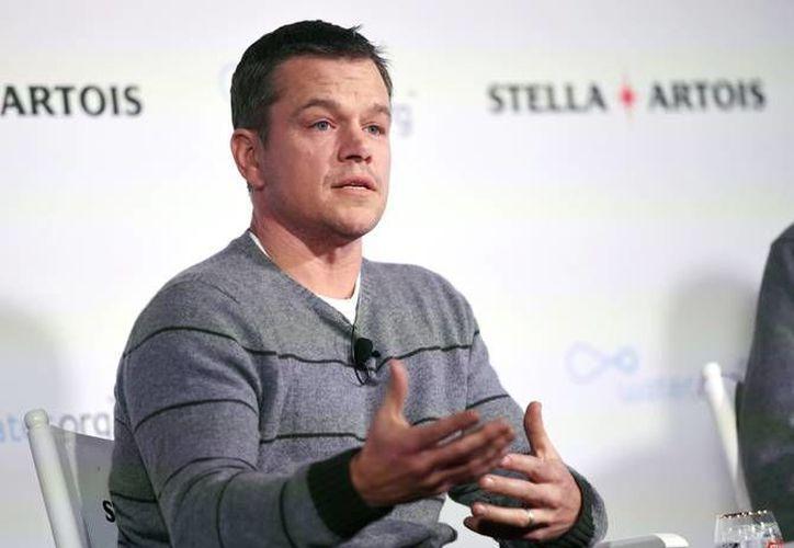 """Matt Damon calificó a la decisión de la Academia Cinematográfica de los Estados Unidos de duplicar a sus integrantes mujeres o provenientes de minorías como un """"maravilloso primer paso. Pero sólo es eso."""". (AP)"""