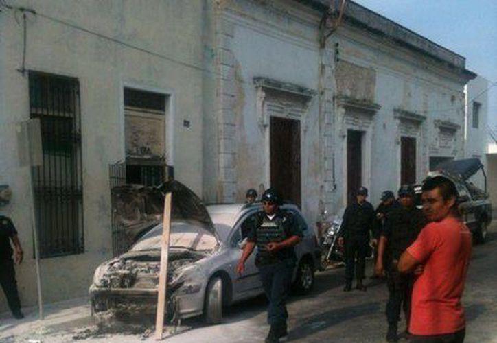 El incidente ocurrió a una cuadra de la plaza de Santa Lucía. (SIPSE)