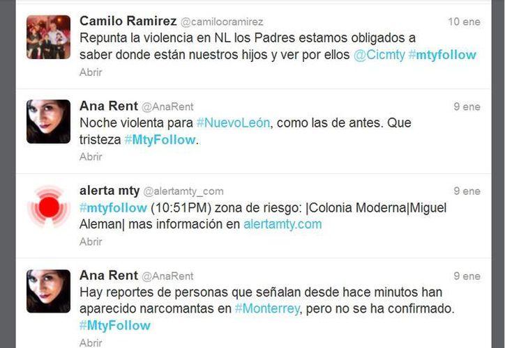 Los usuarios de Twitter en Monterrey son de los más activos al reportar actos violentos. (Twitter.com)