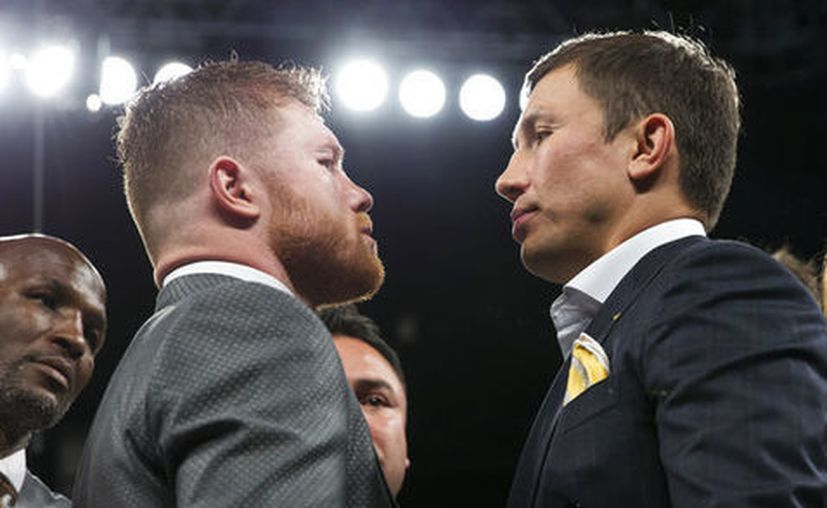 "La pelea de Gennady Golovkin y Saúl ""Canelo"" Álvarez, se realizará en Las Vegas. (AFP)."
