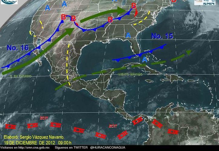 Soplarán vientos del este y sureste de 20 a 40 km/h. (proteccioncivil.qroo.gob.mx/Boletin.php)