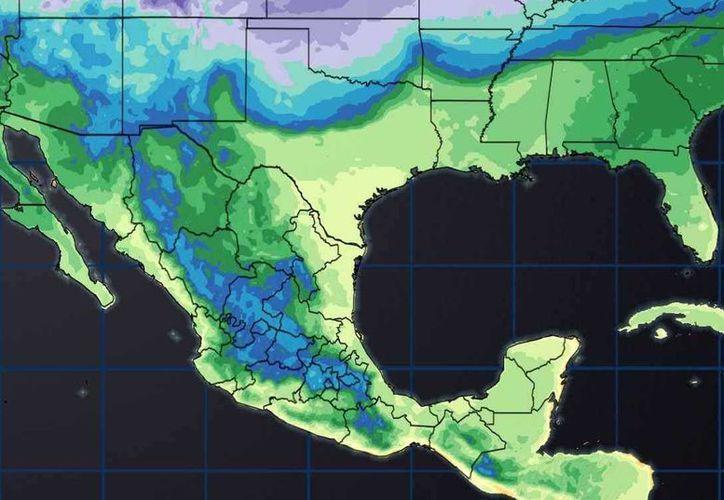 Un canal de baja presión ubicado en el sureste del país mantendrá vientos fuertes en la Península de Yucatán. (Conagua)