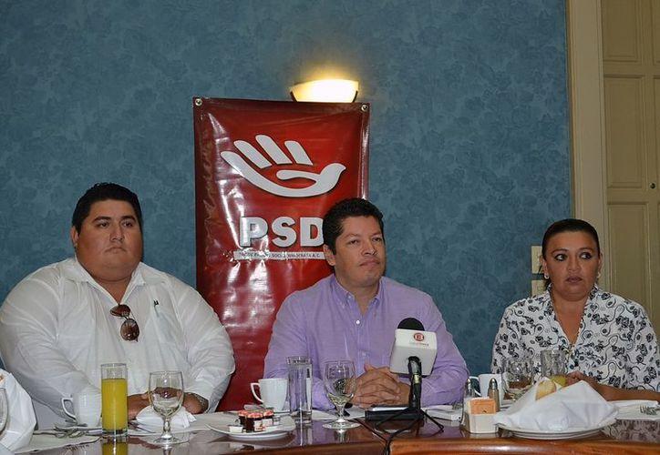 Dirigentes del PSD anunciaron sus planes en una conferencia de prensa.(Milenio Novedades)