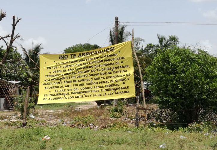 Las señoras señalaron que cuentan con el certificado parcelario que ampara la propiedad. (Javier Ortiz/SIPSE)
